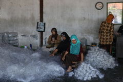Het maken van Sohun in de plaats Kroya Stock Foto