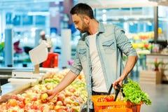 Het maken van voedingskeus Stock Foto