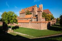 Het Malborkkasteel is beroemd oriëntatiepunt van Polen openlucht royalty-vrije stock afbeeldingen