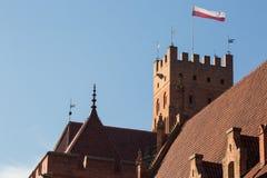 Het Malborkkasteel is beroemd oriëntatiepunt van Polen openlucht stock fotografie