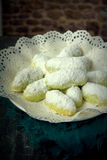 Het Maleise traditionele dessert van Kuihmakmur- tijdens eid Royalty-vrije Stock Foto