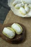 Het Maleise traditionele dessert van Kuihmakmur- tijdens eid Stock Foto
