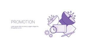 Het Malplaatje bevorderings van de Bedrijfs Marketing Webbanner met Exemplaarruimte stock illustratie