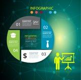 Het malplaatje en van het Bedrijfs infographicontwerp concept met 4 opties royalty-vrije illustratie