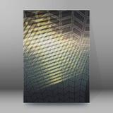 Het malplaatje het verticale formaat van de brochuredekking gloeien background39 Stock Foto's