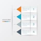 Het malplaatje Oranje, blauwe, grijze kleur van het chronologierapport Royalty-vrije Stock Afbeeldingen