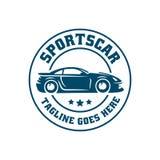 Het malplaatje of het pictogram van het sportwagenembleem Stock Fotografie