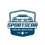 Het malplaatje of het pictogram van het sportwagenembleem Stock Foto's