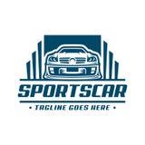 Het malplaatje of het pictogram van het sportwagenembleem Stock Afbeeldingen