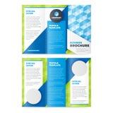 Het Malplaatje Trifold van het Bedrijfsbrochureontwerp royalty-vrije illustratie