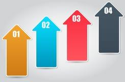 Het malplaatje van Bedrijfs infographic vectorillustratie Stock Foto's