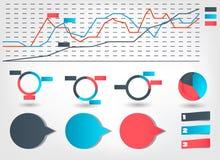 Het malplaatje van Bedrijfs infographic vectorillustratie Stock Afbeelding