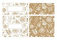 Het malplaatje van het bloemkader voor van de huwelijksuitnodiging en groet kaart stock illustratie