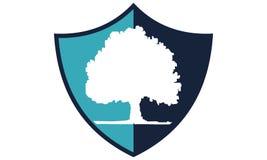 Het Malplaatje van het boomschild Royalty-vrije Stock Afbeeldingen