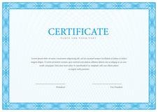 Het malplaatje van het certificaat Diploma van modern ontwerp of giftcertificaat stock illustratie