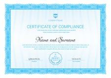 Het malplaatje van het certificaat Diploma van modern ontwerp of giftcertificaat royalty-vrije illustratie