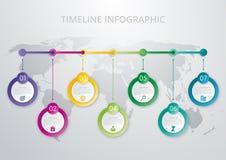 Het malplaatje van chronologieinfographics Royalty-vrije Stock Afbeeldingen