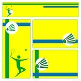 Het malplaatje van de badmintonbrochure Stock Foto's