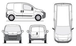 Het Malplaatje van de Bestelwagen van de levering - Vector Royalty-vrije Stock Afbeeldingen