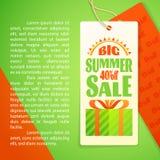Het Malplaatje van het de brievenontwerp van de de zomerverkoop, zon, giftvakje Royalty-vrije Stock Foto's