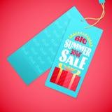 Het Malplaatje van het de brievenontwerp van de de zomerverkoop, zon, giftvakje Royalty-vrije Stock Fotografie