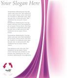 Het Malplaatje van de brochure Stock Foto