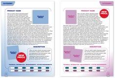 Het malplaatje van de brochure (2 kleurenpagina's) Stock Foto's