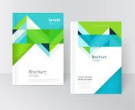 Het malplaatje van de brochuredekking Stock Illustratie