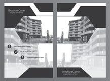 Het malplaatje van de brochuredekking Stock Afbeeldingen