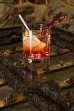 Het Malplaatje van de cocktail Stock Afbeelding