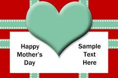 Het Malplaatje van de Dag van moeders stock foto
