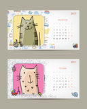het malplaatje van de de babykalender van 2017 Neem uw foto op royalty-vrije illustratie