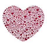 Het malplaatje van de de Dagkaart van Valentine ` s Stock Fotografie