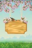 Het Malplaatje van de de lenteaffiche Royalty-vrije Stock Foto's