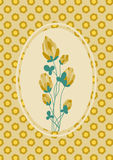 Het malplaatje van de de lentekaart Royalty-vrije Stock Afbeeldingen