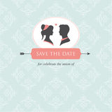 Het malplaatje van de de uitnodigingskaart van het huwelijk   Royalty-vrije Stock Foto