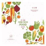Het malplaatje van het de groentenontwerp van de Papercutstijl Organische groenten Vector illustratie royalty-vrije illustratie