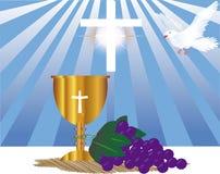 Het malplaatje van de Heilige Communiekaart Stock Foto's