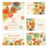 Het Malplaatje van de huwelijksuitnodiging Stock Afbeeldingen