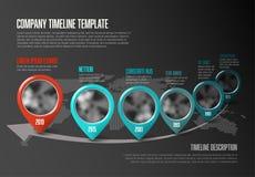 Het Malplaatje van de Infographicchronologie met wijzers Royalty-vrije Stock Foto's