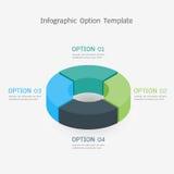 Het malplaatje van de Infographicoptie Stock Foto