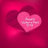 Het malplaatje van de Kaart van de Dag van de valentijnskaart. + EPS8 Royalty-vrije Stock Afbeelding