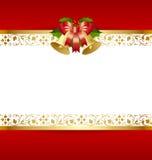 Het malplaatje van de kerstkaart vector illustratie