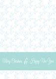 Het malplaatje van de kerstkaart Royalty-vrije Stock Afbeelding