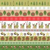 Het malplaatje van de kerstkaart Royalty-vrije Stock Afbeeldingen