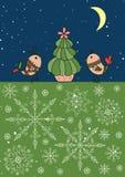 Het malplaatje van de kerstkaart Stock Afbeeldingen