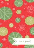 Het malplaatje van de kerstkaart Stock Afbeelding