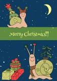 Het malplaatje van de kerstkaart Stock Foto's