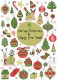 Het malplaatje van de kerstkaart Stock Foto