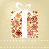 Het malplaatje van de kerstkaart. EPS 8 Royalty-vrije Stock Afbeelding
